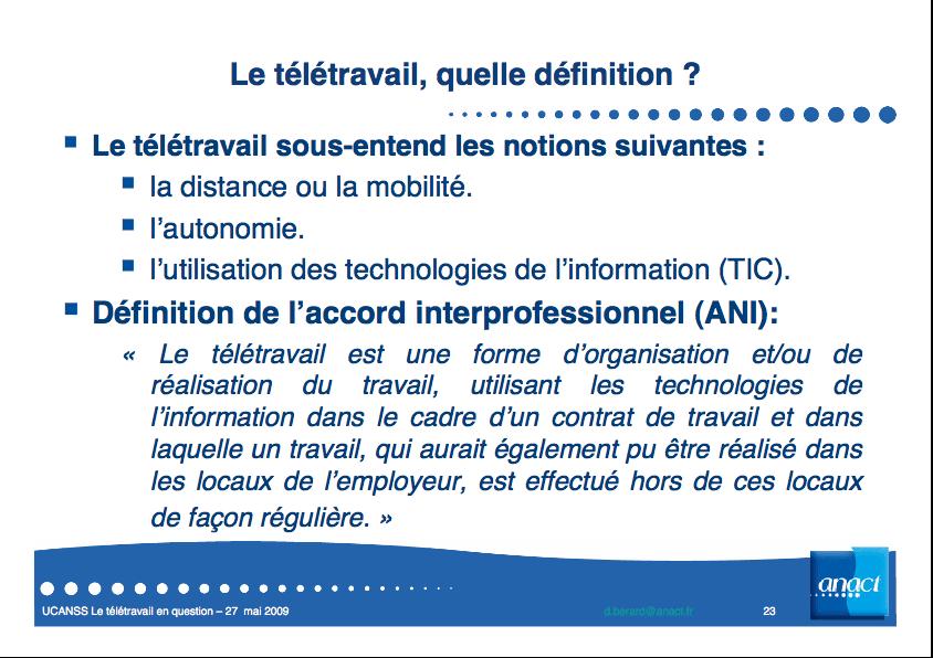 le teletravail definition