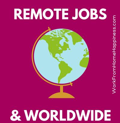 offre d'emploi teletravail international