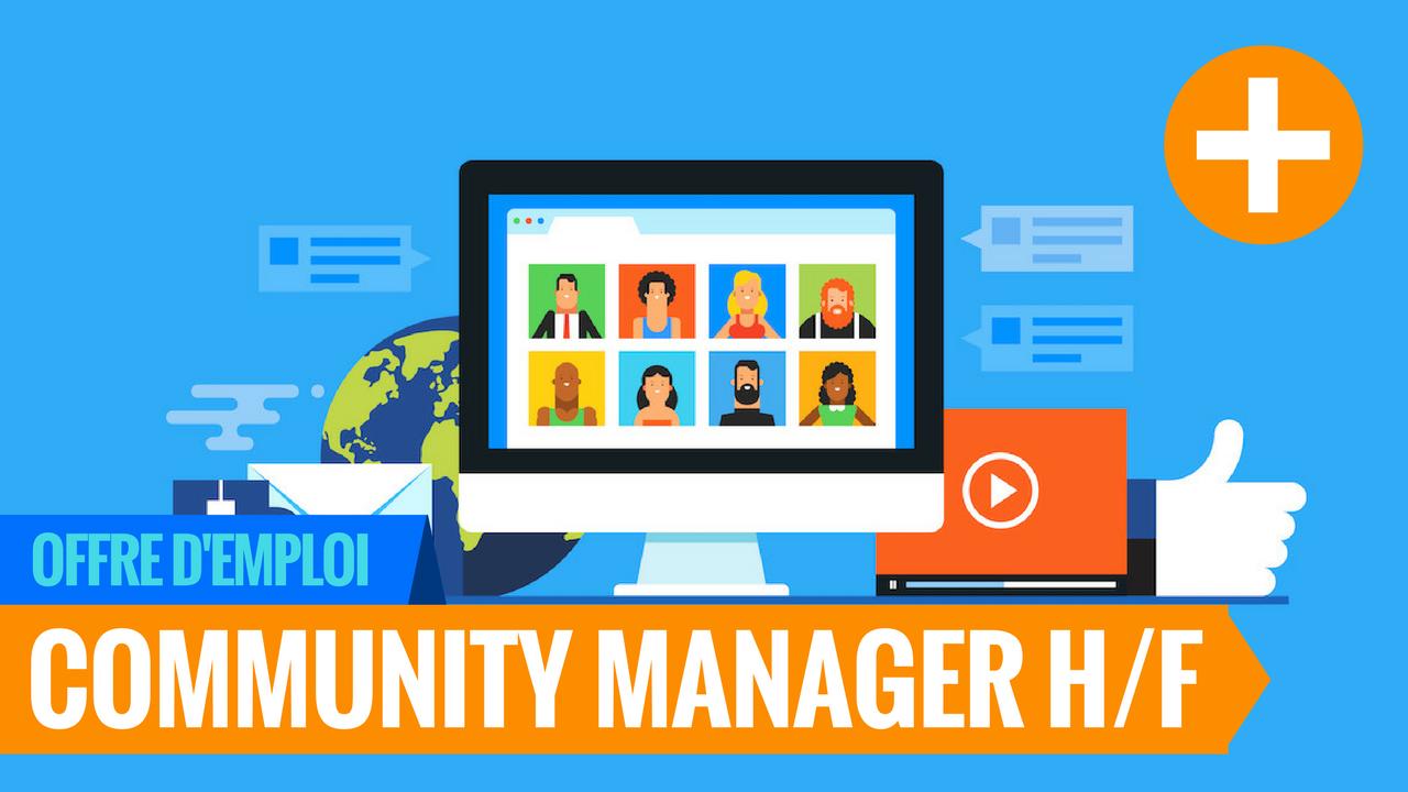 offre emploi teletravail community manager