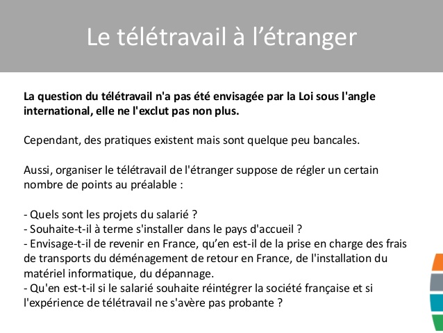 question teletravail