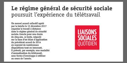 teletravail a la securite sociale