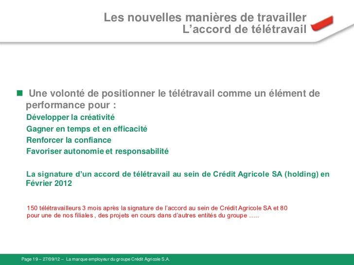 teletravail credit agricole