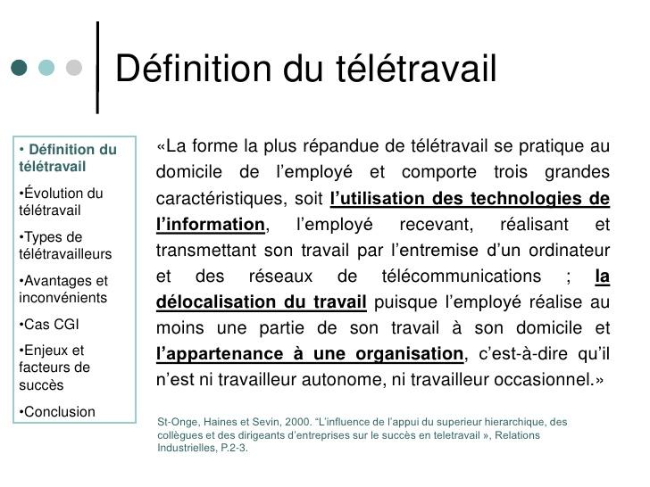 teletravail definition