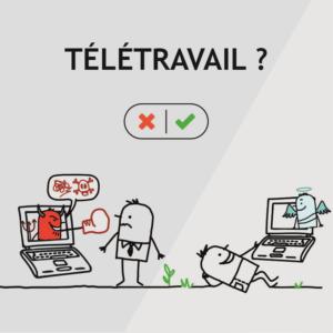 teletravail in english