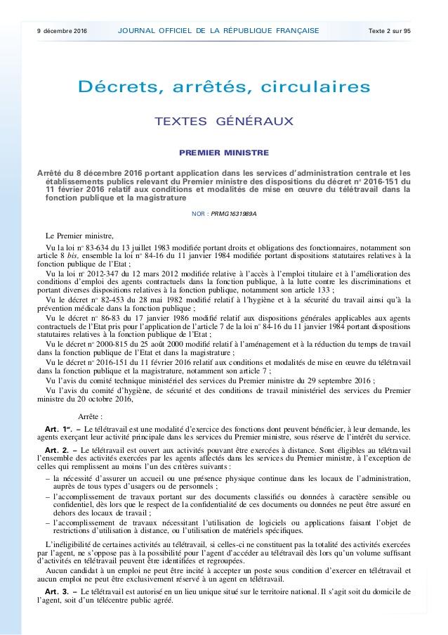 teletravail legifrance