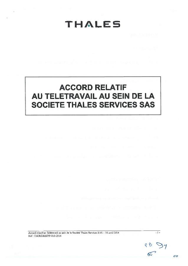 teletravail thales