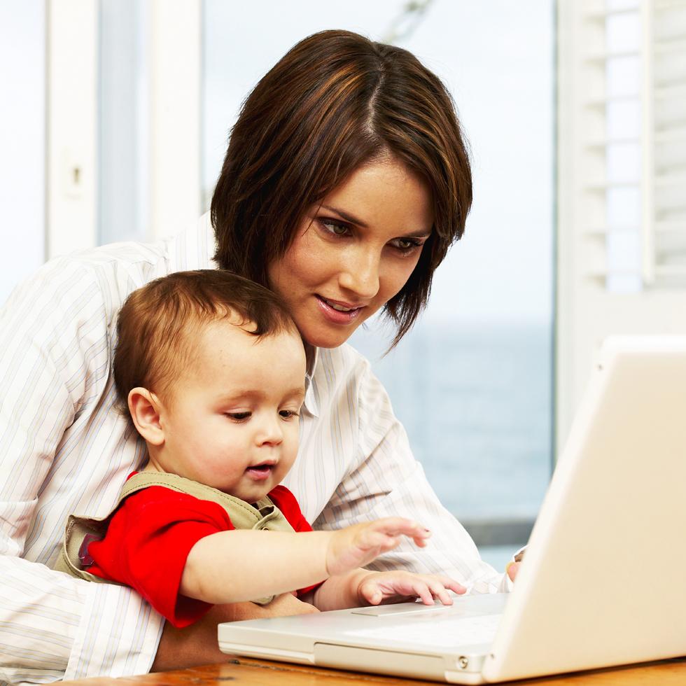 travail a domicile jeune maman
