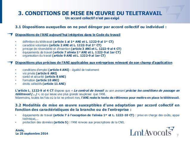 emploi juridique teletravail