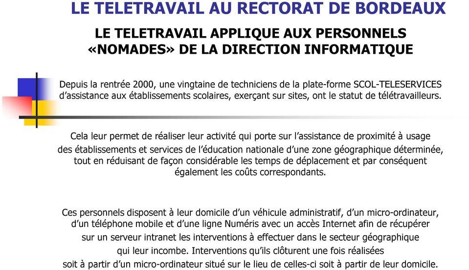 offre d'emploi teletravail administratif