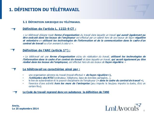 teletravail obligation
