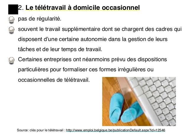 teletravail offres d'emploi belgique