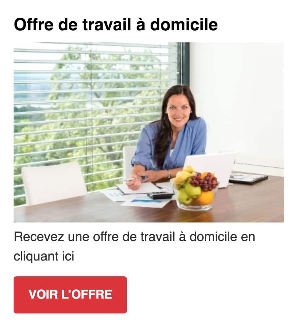 travail a domicile vente en ligne